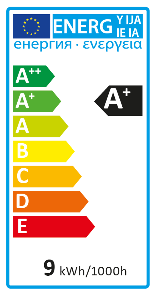 Energieeffizienzlabel CLASSIC DIM 1017270 (Blauer Engel)