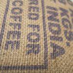 Wandleuchte N°25 Perlbohne aus Kaffeesack