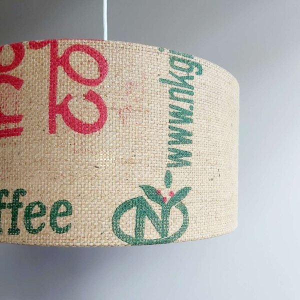 Lampe aus Kaffeesack