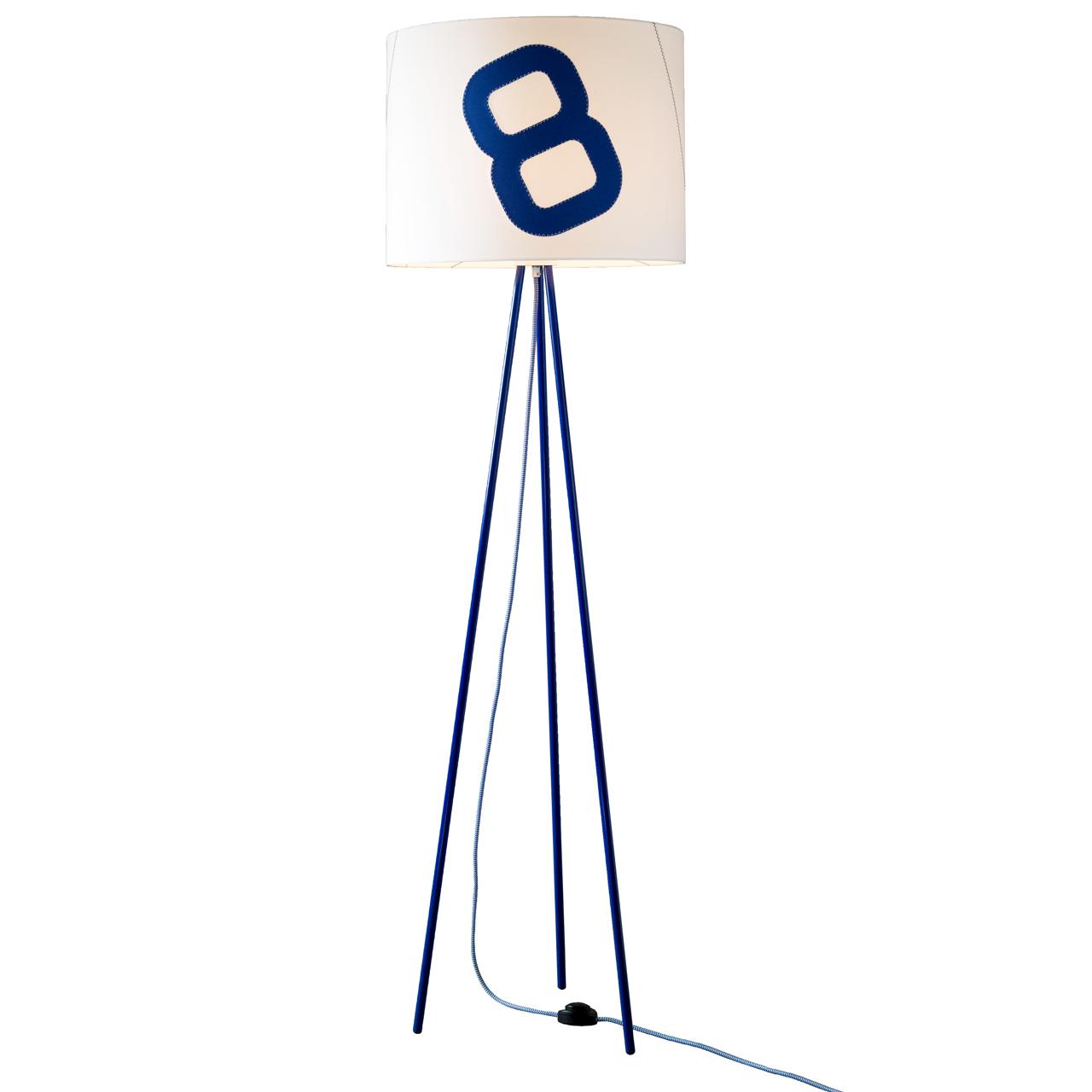 heimathafen blau stehlampe