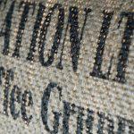 Deckenleuchte N°25 Perlbohne aus Kaffeesack