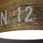 Deckenleuchte N°76 Perlbohne aus Kaffeesack