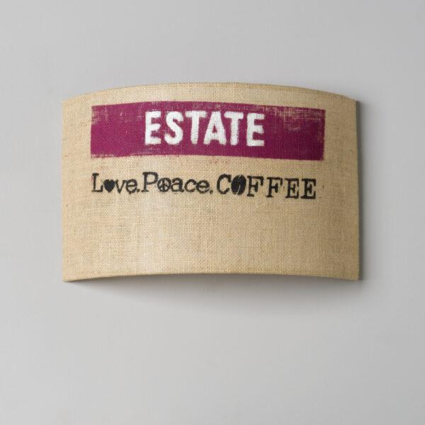 wandleuchte kaffee natur