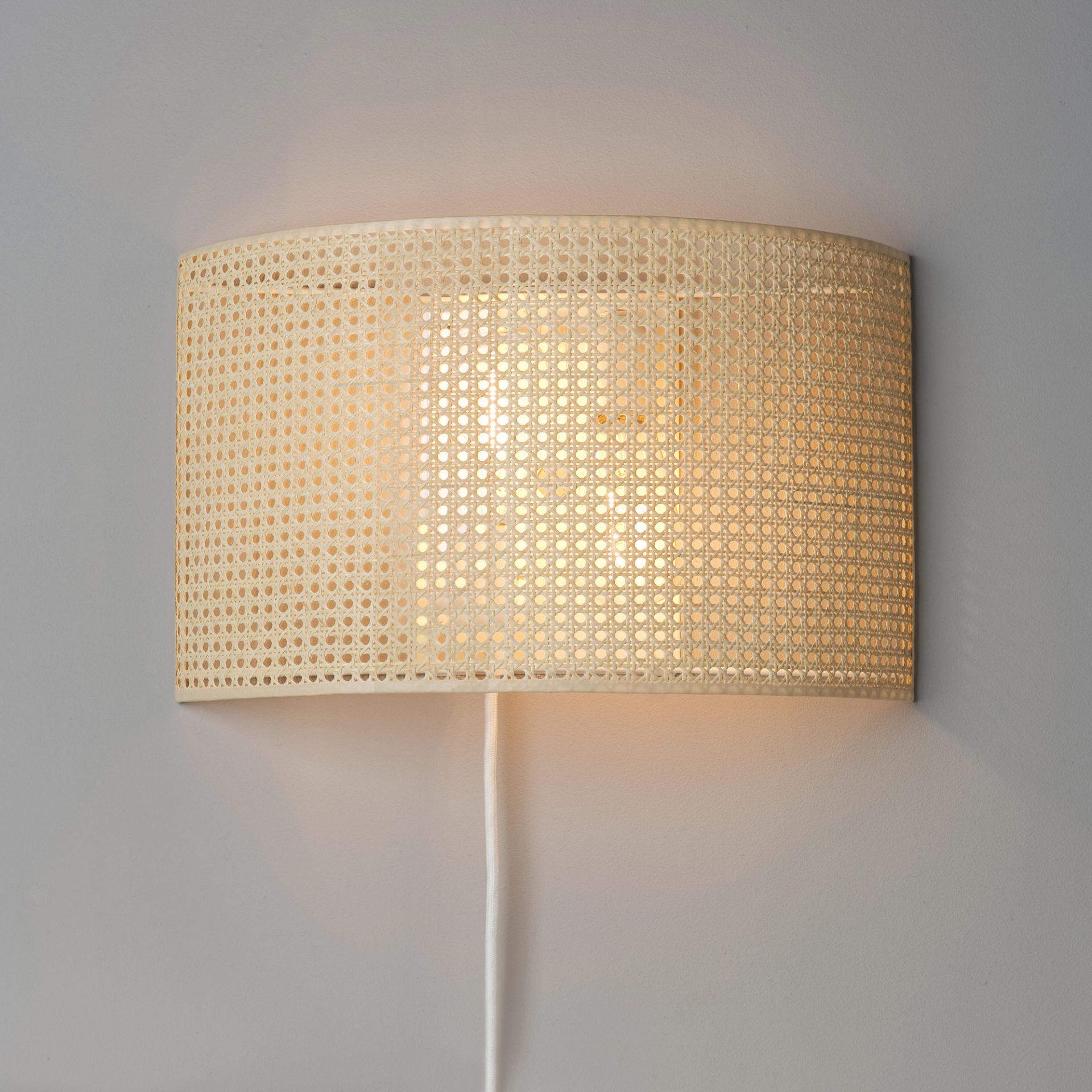 wandlampe geflecht