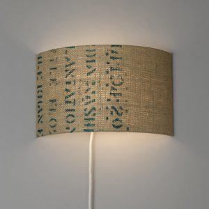 Wandlampe N°58 Perlbohne aus Kaffeesack