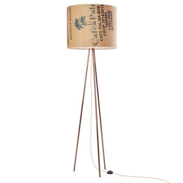 stehleuchte-bronze-gebrauchter kaffeesack-lumbono
