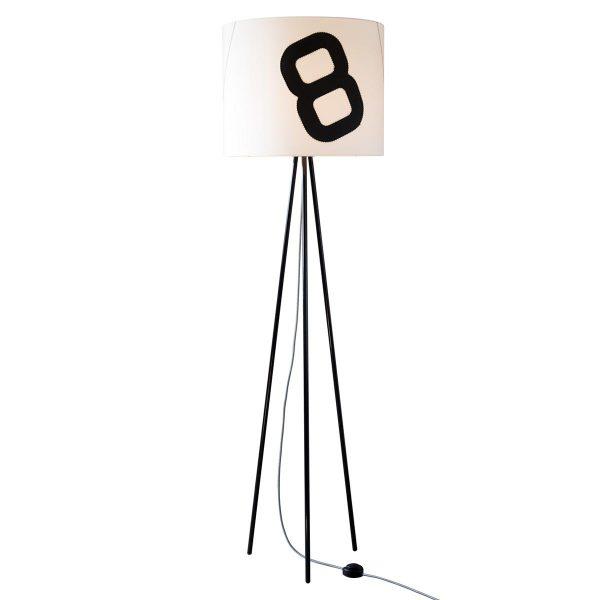 tripod-lampe-textilkabel-stecker-lumbono