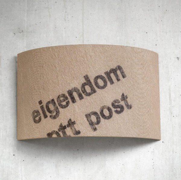 lumbono Wandleuchte Szene Hauspost-30 Upcycling Postsack