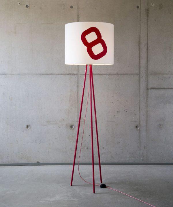 steheleuchte-heimathafen-tripod-mit textilkabel-rot
