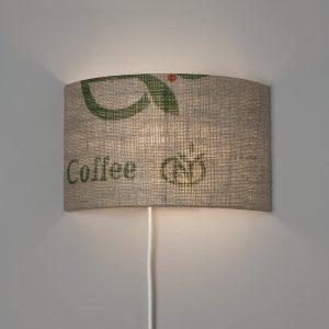 Wandleuchte N°67 Perlbohne aus Kaffeesack