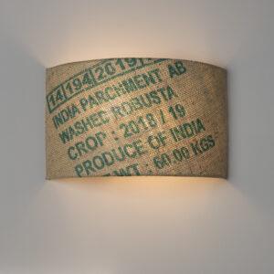 Wandleuchte N°82 Perlbohne aus Kaffeesack
