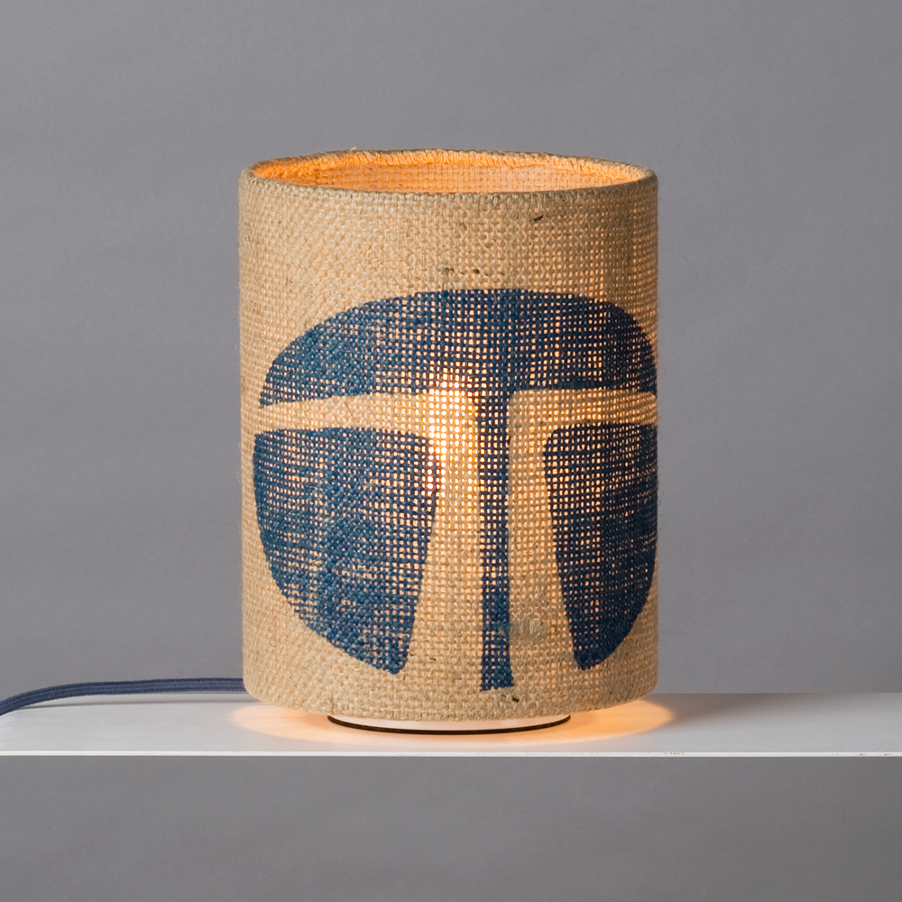 Tischlampe aus Kaffeesack