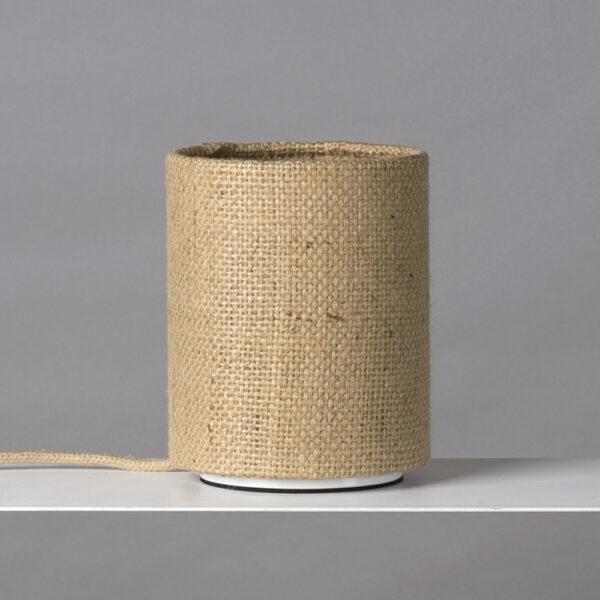 Tischleuchte aus Kaffeesack